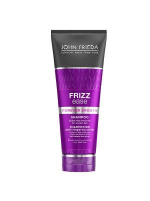 Шампунь для гладкости волос длительного действия против влажности Frizz Ease Forever Smooth, 250 мл John Frieda. Цвет: прозрачный