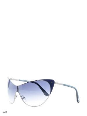 Солнцезащитные очки FT 0364 89W Tom Ford. Цвет: серебристый, синий