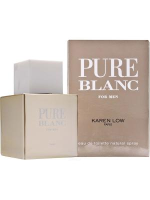 Туалетная вода Pure Blanc men  Линии KAREN LOW GEPARLYS. Цвет: серебристый