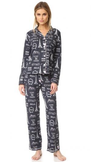 Пижамный набор в городской и любовь PJ Salvage. Цвет: дымчато-серый