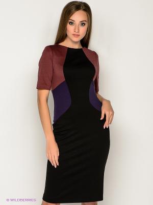 Платье МадаМ Т. Цвет: черный, бордовый, фиолетовый