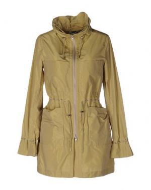Легкое пальто 313 TRE UNO. Цвет: зеленый-милитари