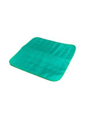 И1190 Коврик на кресло 45х45 см для улучшения кровообращения в области малого таза SilverStep. Цвет: зеленый