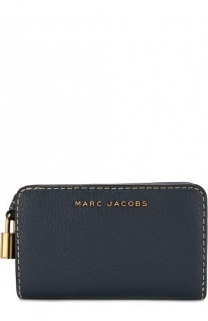 Кожаный кошелек с логотипом бренда Marc Jacobs. Цвет: темно-синий