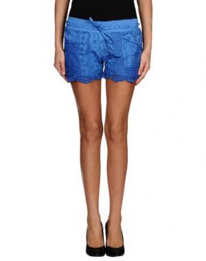 Повседневные шорты TEMPTATION. Цвет: синий