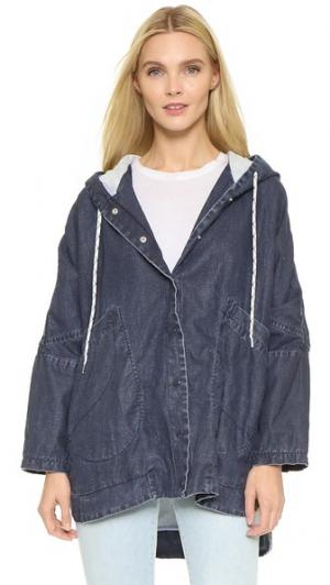 Куртка Plastica Otto d'ame. Цвет: синий