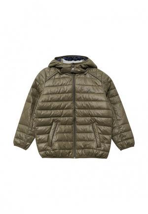 Куртка утепленная Pepe Jeans. Цвет: хаки