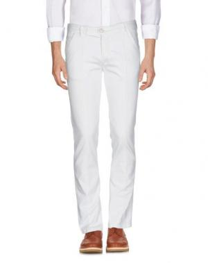 Повседневные брюки BARBA Napoli. Цвет: белый