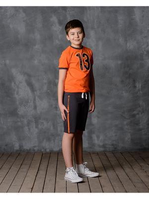 Шорты Modniy JUK. Цвет: оранжевый, серый