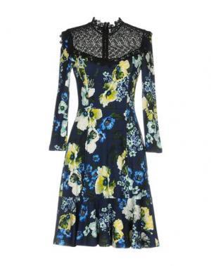 Платье до колена ERDEM. Цвет: темно-синий