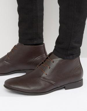ASOS Коричневые ботинки чукка. Цвет: коричневый