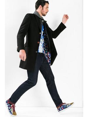 Пальто Desigual. Цвет: черный, фиолетовый, розовый