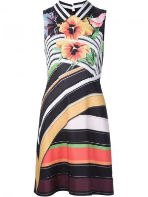 Платье Alpina Mary Katrantzou. Цвет: многоцветный