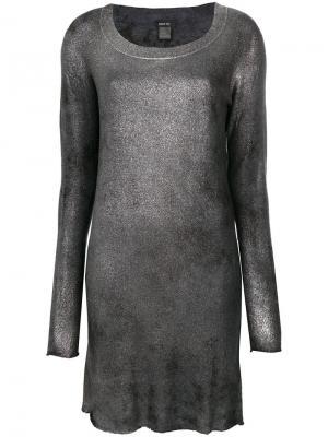 Металлизированное платье по фигуре Avant Toi. Цвет: металлический