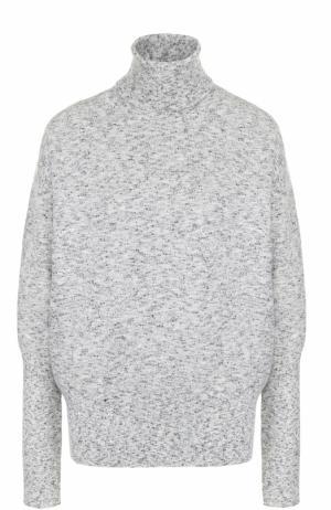 Шерстяной свитер свободного кроя Victoria Beckham. Цвет: серый