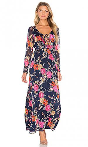 Платье nova Lucca Couture. Цвет: синий