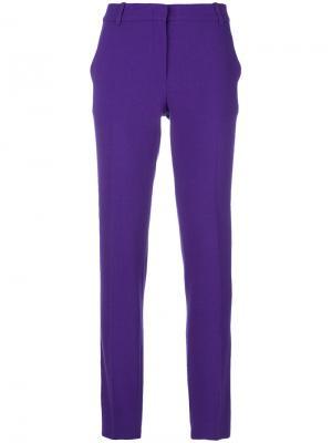 Прямые брюки строгого кроя Emilio Pucci. Цвет: розовый и фиолетовый