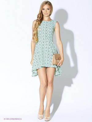 Платье ARBOR VITAE. Цвет: зеленый, черный