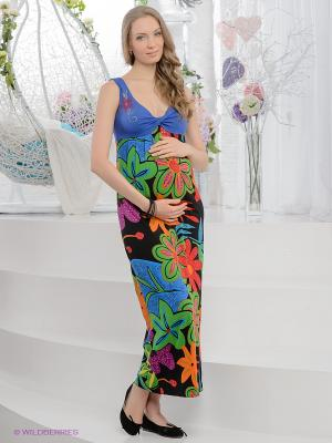 Платье UNIOSTAR. Цвет: синий, зеленый, красный