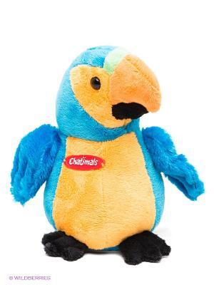 Попугай-повторюшка Dragon-i. Цвет: голубой, оранжевый, желтый