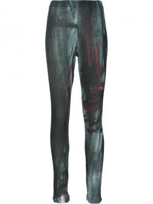 Леггинсы с принтом Fraise Yohji Yamamoto. Цвет: чёрный