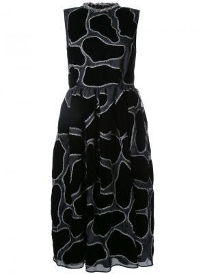 Платье миди с вышивкой Jupe By Jackie. Цвет: чёрный