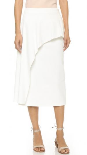 Драпированная юбка Agathe Tibi. Цвет: золотой