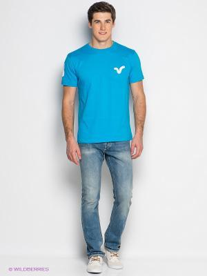 Футболка VOI JEANS. Цвет: голубой