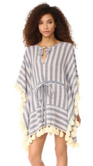 Платье в стиле восточного халата Vero MISA. Цвет: tu2