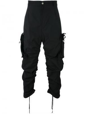 Брюки с карманами по бокам 424 Fairfax. Цвет: чёрный