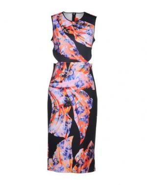 Платье до колена CLOVER CANYON. Цвет: оранжевый