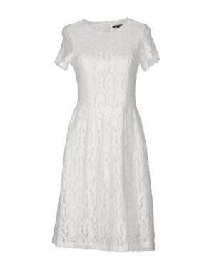 Короткое платье MORGAN DE TOI. Цвет: слоновая кость