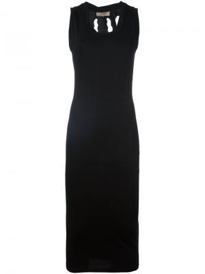 Платье Torn Murmur. Цвет: чёрный