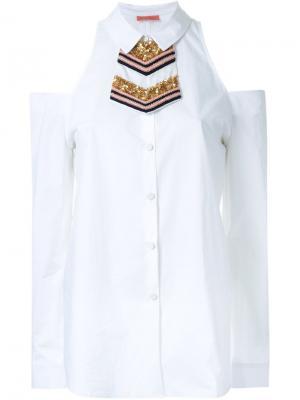 Рубашка Medallion club Manning Cartell. Цвет: белый
