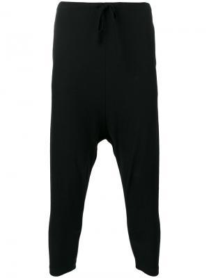 Спортивные брюки с заниженным шаговым швом  Forme Dexpression D'expression. Цвет: чёрный