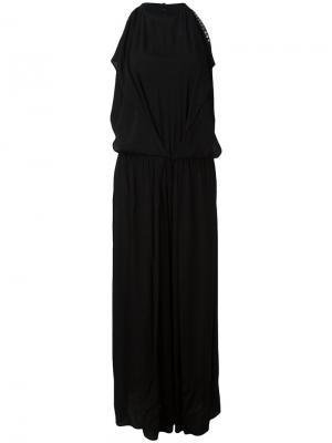 Расклешенное платье с заклепками 8pm. Цвет: чёрный