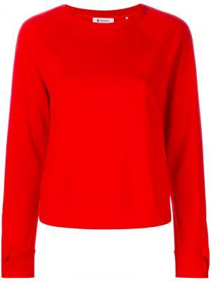 Ruched sleeves sweatshirt Dondup. Цвет: красный