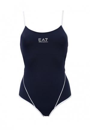 Купальник EA7. Цвет: синий