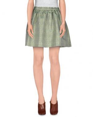 Мини-юбка MANOUSH. Цвет: светло-зеленый