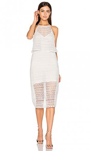 Платье холтер daiguiri Line & Dot. Цвет: белый
