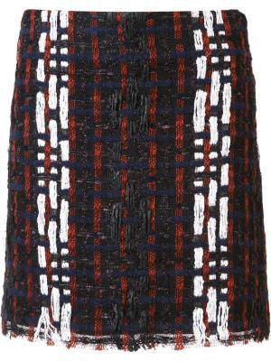 Мини-юбка с узором Les Animaux. Цвет: чёрный