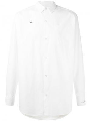 Классическая рубашка с длинными рукавами Undercover. Цвет: белый
