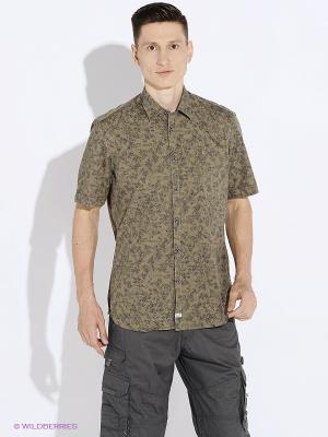 Рубашка LERROS. Цвет: хаки
