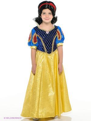 Карнавальный костюм Принцесса Белоснежка Батик. Цвет: желтый, синий