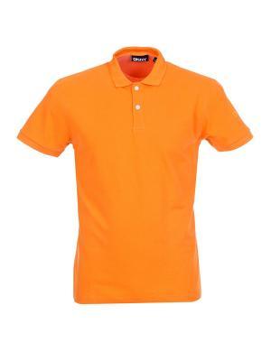 Поло DKNY. Цвет: оранжевый