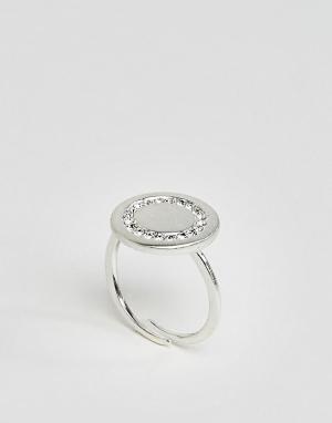 Pilgrim Посеребренное кольцо. Цвет: серебряный