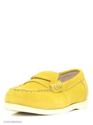 Мокасины San Marko. Цвет: желтый