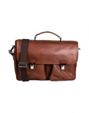 Деловые сумки D'AMICO. Цвет: какао