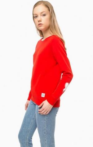 Красный свитшот с принтом Marc O'Polo. Цвет: красный