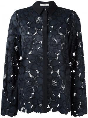 Кружевная рубашка Dorothee Schumacher. Цвет: синий